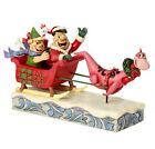 "Jim Shore 4058331 FAMILIE FEUERSTEIN Christmas Skulptur ""Flinstones Sleigh Ride"""
