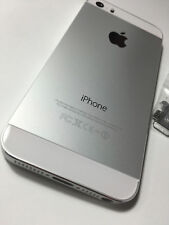 ORIGINAL iPHONE 5S BACK REAR COVER GLASS DOOR HOUSING REPLACEMENT SILVER A1530