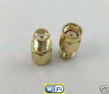 1 x SMA female To RP-SMA male both female center rf connector adapter As Pic