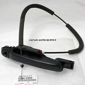 TOYOTA 91-97 PREVIA | GENUINE | RH REAR DOOR OUTSIDE HANDLE 69230-95D00 w/ CABLE