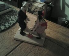 """Norman Rockwell """"First Dance"""" Porcelain Figurine Danbury Mint Collection"""