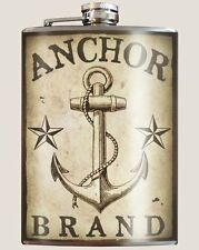 """""""Anchor Brand"""" 8 oz. Stainless Steel Flask with Funnel"""
