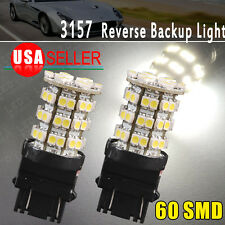 2 X New 3157 HID White 60-SMD LED Backup Reverse LED Light 3057 3157A 3047 3155