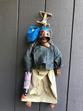 Rare Antique Asian Puppet Hand Carved and Painted in Wood (21 inches)