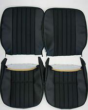 PORSCHE 911 912  EARLY SEAT COVER SET SQUARE BACK W/ BASKET WEAVE GERMAN  VINYL