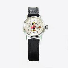 Vintage Walt Disney Bradley Time Minnie Mouse Mechanical Cartoon Analog Watch