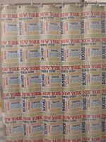 New Victoria Classics WORLD TRAVELER Printed Shower Curtain 72x72 NIP