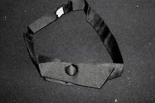 Vintage 1930'S Black Formal Silk Satin Neck Tie