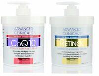 Advanced Clinicals Retinol Cream and COQ10 Cream Skin Care Set of 2