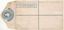 AL80 GB QV 2d  Unused Postal Stationery envelope Registered {samwells-covers}