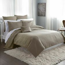 DKNY City Line Duvet Cover-Taupe-Full/Queen
