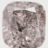 Natural Loose Diamond Faint Pink Color Cushion Clarity I3 3.10 MM 0.18 Ct L5517
