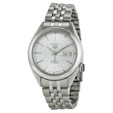 Seiko 5 SNKL15 Automatic Day-Date White Dial Stainless Steel Mens Watch SNKL15K1