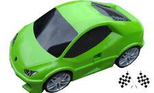 Lamborghini Huracan Car Kids Pull-Along Case / Travel Suitcase - Green