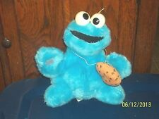 VINTAGE HASBRO SOFTIES SESAME STREET COOKIE MONSTER PLUSH RATTLE WITH COOKIE