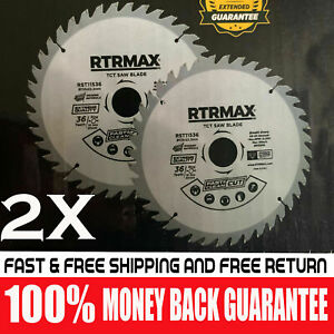 2 X 115mm x 36TCT Saw Blade for Wood and Plastic 4.5'' Circular Saw Cutting Disc