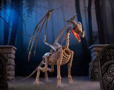 Huge ANIMATED SKELETON DRAGON Halloween Prop SOUNDS AND LIGHTS