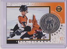 RARE 1997-98 PINNACLE MINT ERIC LINDROS SILVER / NICKEL COIN & CARD #1