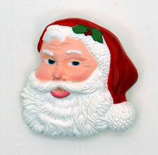Vintage Rare Christmas Santa Claus Face Pin Brooch by Hallmark Cards, Inc. 2039B