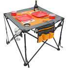 Folding Pop-up Tailgate Wine Table, 4 Wine Glass Holders, 4 Cup Holders