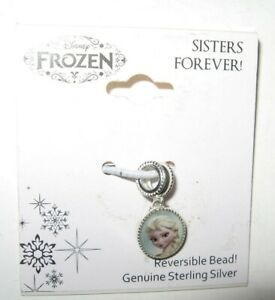 Disney Sterling Silver Charm Frozen Elsa and Anna Sisters Forever! New