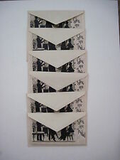 """Vintage Art Deco Set of 6 """"You Are Invited"""" Parchment Cards w/Envelopes *"""