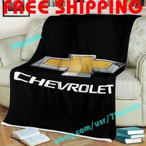 Custom Chevrolet Car Racing Fleece Blanket Thin Quilt Sofa Cover Garage Fan Gift