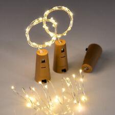 Wine Bottle Fairy String Lights 20 LED Battery Cork For Party Christmas Xmas UK