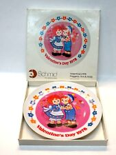 Vintage 1978 Schmid Valentines Raggedy Ann & Andy Porcelain Collectors Plate Mib