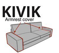 (1) x IKEA KIVIK Armrest Cover Slipcover TALLMYRA WHITE / BLACK 004.827.20