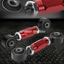 ADJUSTABLE REAR LOWER TOE CAMBER CONTROL ARM KIT 88-00 CIVIC/CRX/DEL SOL/DC RED