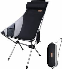 Ultralight High Back Folding Camping Chair With Pillow Outdoor Backpacking