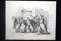 Incisione d'allegoria e satira Napoleone III, Eliseo Don Pirlone 1851