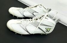 Warrior Burn Speed 4.0 Mens Lacrosse Screw In Cleats White Silver Size 12(ss14)