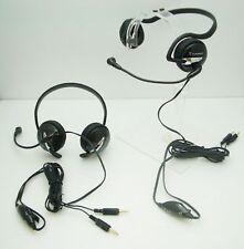 Lot of 2 Plantronics Audio 345 Behind-The-Head Skype MultiMedia Computer Headset