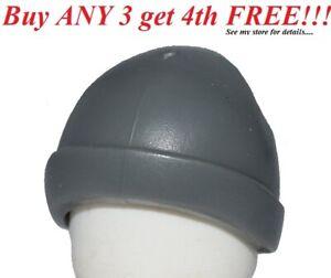 ☀️NEW Lego City Boy Minifig Hat Dark Bluish Gray Cap Ski Beanie