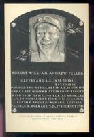 1953-63 Artvue Hall of Fame Postcards #33 Bob Feller Reds Type 2