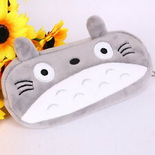 Novelty Totoro Plush Cartoon Pencil Case Kids Cosmetic Pouch Pen Bag Study Gifts