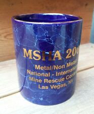 MSHA 2000 International Mine Rescue Competition Contest Cobalt Mug Las Vegas