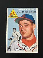 1954 Topps Wilmer Mizell #249 St. Louis Cardinals
