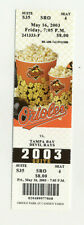 Baltimore Orioles Vs Tampa Bay Devil Rays May 16 2003 Unused Suite Ticket