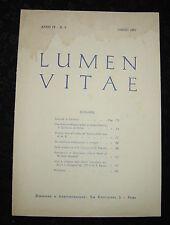 MASSONERIA-LUMEN VITAE-INIZIAZIONE DI G.CARDUCCI-3/1957-CERIMONIE CARDUCCIANE