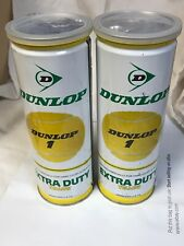 Vintage Tennis Balls Sealed Lot Of 2 Cans Dunlop 1 Championship Yellow 3 Count