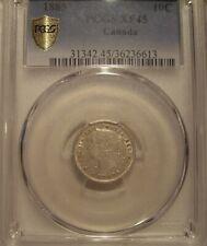 Canada Victoria 1885 Silver Ten Cents - PCGS XF-45