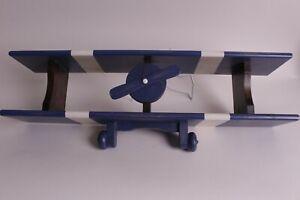 """New Pottery Barn Kids Airplane wall shelf, plane, navy blue, 30"""" w"""