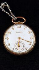 BULOVA 1944 Swiss Pocket Watch 17AH BUY IT NOW! 17 Jewel 10k RGP Gold