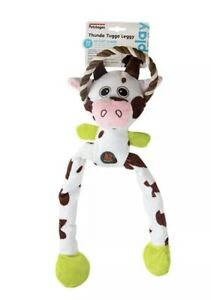 K9 Tuff Guard Cow Tugga Leggy Dog Puppy Toy Soft Toy Large by Petstages 065