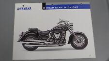 NOS Yamaha 2005 Road Star Midnight Dealer Specification Chart Data Sheet XV1700