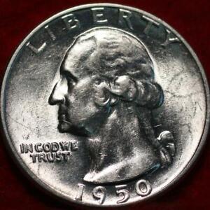 Uncirculated 1950-D Denver Mint Silver Washington Quarter