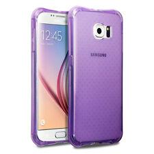 Samsung Galaxy S6 borde Genuina Cubierta De Rock Cojín de Aire Gel Tech 2 Resistente púrpura